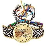 Reloj mujer original ❤️ Amlaiworld Moda Relojes niña Reloj de pulsera de cuarzo artesanal original mujer hecho a mano Reloj de Vestido de mujer Pulseras Joyería Señora Relojes de bolsillo reloj mujer deportivo fitness (E)