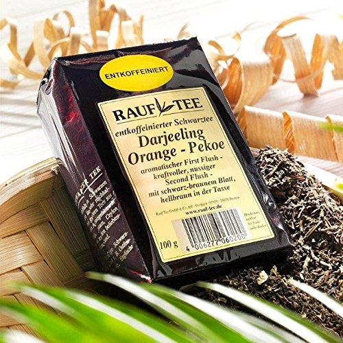 Rauf Tee schwarzer Tee - Darjeeling Orange Pekoe entkoffeiniert - 2x100g