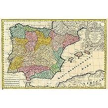 Grupo Erik Editores Mapa España Antiguo - Deco - Poster, 61 x 91.5 cm