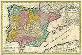 Grupo Erik Editores Poster Mapa España Antiguo - Deco