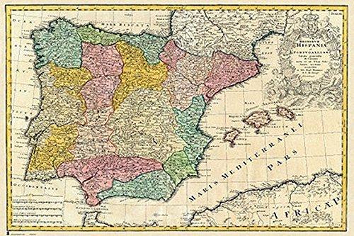 Mapa de España antiguo
