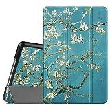 iPad Mini 4 Hülle - Fintie Ultradünn Superleicht Cover Schutzhülle Tasche Case mit Ständer und Auto Sleep/Wake Funktion für Apple iPad Mini 4, Mandelblüten