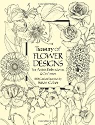 Treasury of Flower Designs for Artists, Embroiderers and Craftsmen (Dover Pictorial Archive) by Susan Gaber (1981-02-01)