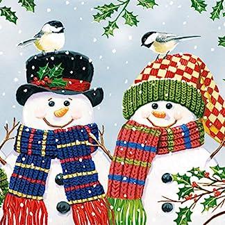 Ambiente servilletas de Papel 3Capas, Navidad muñeco de Nieve par