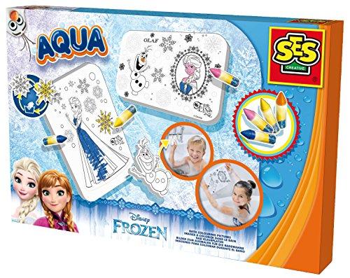 SES creative 13081 - Malen in der Badewanne Frozen, Kinder Bastelset, blau