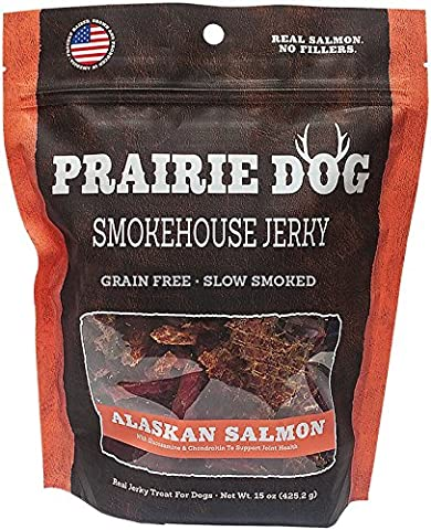 Prairie Dog Pet Products Smokehouse Jerky, 15 oz., Alaskan Salmon