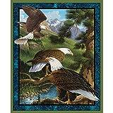 Wild Eagles Scenic Baumwolle Stoff Panel-John Wilson