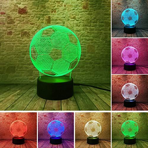 3d led fernbedienung nachtlicht usb wohnkultur fußball player nachtlichter urlaubsgeschenk 7 farbwechsel tischdekoration lampen weihnachtsgeschenk mit