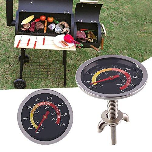 Kicode BBQ Temperatur Runden Spur Grill Thermometer Für Grillfleisch Kochen Schweinefleisch (Kochen Schweinefleisch C)
