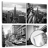 murando - Acrylglasbild New York 80x80 cm - Bilder Wandbild - modern - Decoration City Stadt 030211-58