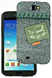 Heartly Jeans Style Printed Design High Quality Hard Bumper Back Case Cover For Samsung Galaxy Note 2 II N7100 - Tea Pocket