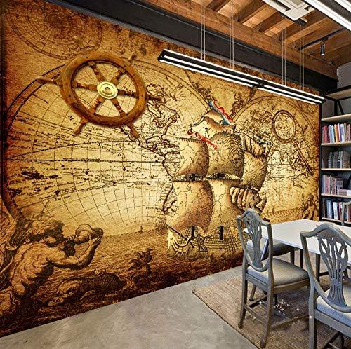 Retro Nostalgia Póster 3D Sala Papel Tapiz Mural Papel De Pared Decoración...