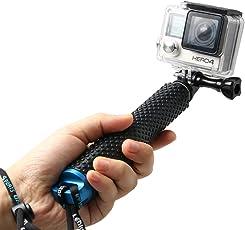 KingMa Extendable Selfie Stick, Gopro Pole Waterproof Telescopic Monopod for Go Pro Hero 6 5 4 3+ 3 2 (Blue, TECHPRT-120)