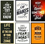 #5: Combo Pack of 6 Motivational Wall Posters and Inspirational Quotes for Office and Home Decor (Size 12 inches x 18 inches) Design 77