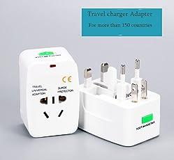 Unifree Universal World Wide Travel Power Plug Adapter/Charger Adapter Plug, EU/AU/ UK/US / CN/JP / HK Euro 2016 Surge Protector