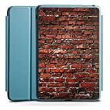 Apple iPad Mini 4 Smart Case hellblau Hülle Tasche mit Ständer Smart Cover Backstein Steinwand Steine Rot
