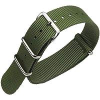 FOUUA Cinturini per orologi in nylon Stile Nato Scelta di colore, lunghezza e larghezza 18mm 20mm 22mm Cinturini…