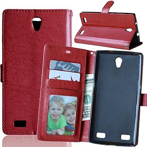Solid Color PU-Leder-Kasten mit Silikon-Abdeckung Magnetic Kickstand Case für ZTE ZMax2 Z958 ( Color : Rose , Size : ZTE ZMax2 Z958 ) Brown