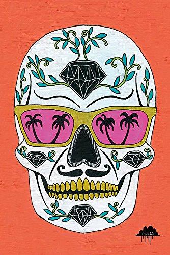 Preisvergleich Produktbild Schubert the Diamond Sugar Skull Poster (61cm x 91,5cm) + 1 Traumstrand Poster Insel Bora Bora zusätzlich