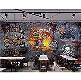 kssim Peinture murale 3d photo papier peint Vintage moto bar decor painting photo peintures murales papier peint