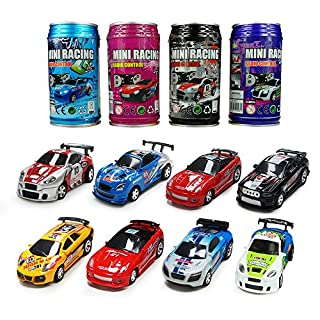 ARRIS® Multicolor Coke Can Mini RC Radio Remote Control Micro Racing Car Hobby Vehicle Toy Gift (1pcs)
