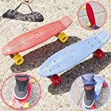 Babz 22' Cruiser Retro Talla Skate Patinaje Tabla Patinador Plástico Completo Cubierta Nueva - Rojo