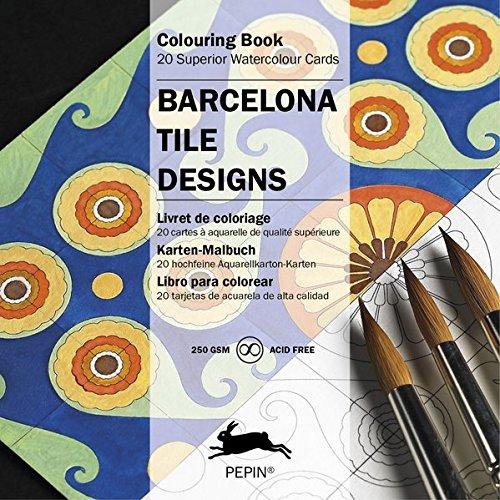 Barcelona Tile Designs: Colouring Card Book: colouring book (Artists Colouring Book) por Pepin Van Roojen