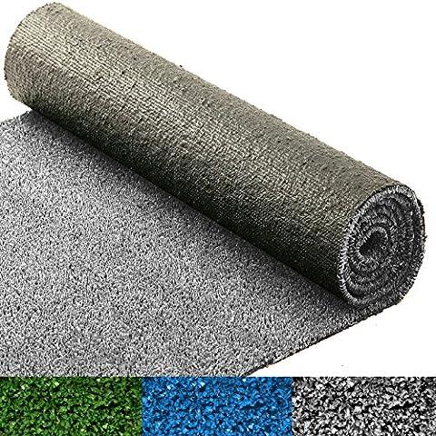 Moquette d'extérieur casa pura® au mètre | tapis gazon synthétique | résistant | jardin, terrasse, balcon, terrain de golf, etc. | gris - 400x200cm