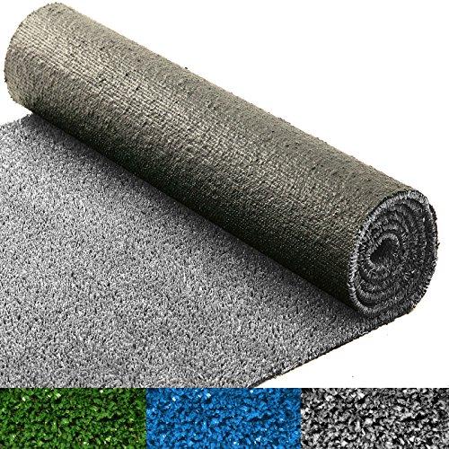 Moquette d'extérieur casa pura® au mètre | tapis gazon synthétique | résistant | jardin, terrasse, balcon, terrain de golf, etc. | gris - 100x200cm