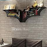 JTWJ Ledge aus Holz Bücherregal Bücherregal Wohnzimmer Dekoration (schwarz, 78 * 47cm)