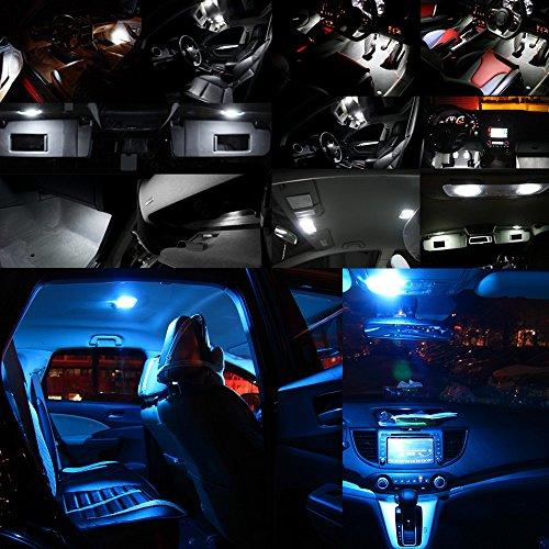 Preisvergleich Produktbild WLJH 11 Pack Eisblau Canbus Fehler Auto LED Innenbeleuchtung Paket Kit für GOLF 6 VI GTI MK6 2010 2011 2013 2014