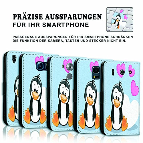 Wallet Book Style Flip Handy Tasche Case Schutz Hülle Schale Motiv Etui für Apple iPhone 4 / 4S - Variante UMV4 Design12 Design 12