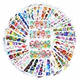 Born Pretty 50 Sheets Animal Water Decal Butterfly Cat Dog Dream Catcher Colorful Nail Art Transfer Sticker