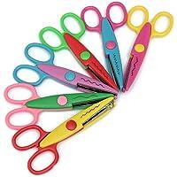mi ji 6pcs Enfants Safe Ciseaux à cranter coloré Papier décoratif Bordure en Dentelle Set Ciseaux pour Les Enseignants…
