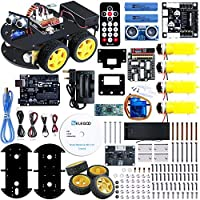 Elegoo UNO Project Smart Robot Car Kit V 3.0 with UNO R3, Line Tracking Module, Ultrasonic Sensor, IR remote module etc. Intelligent and Educational Toy Car Robotic Kit for Kids Teens