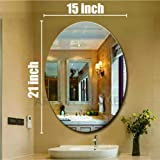 Creative Arts n Frames Oval Shape 15 x 21 inch Wall Mirror for Bathroom, Bedroom, Drawing Room and Wash Basin (Mirror, 15 x 2