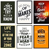 Combo Pack Of 6 Motivational Wall Posters And Inspirational Quotes For Office And Home Decor (Size 12 Inches X 18 Inches) Design 77