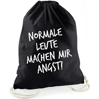 Turnbeutel Rucksack Sportbeutel Jute Beutel Tasche Normale Leute machen mir ..