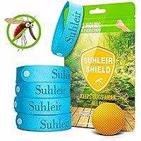Pulsera Antimosquitos Pulseras Repelentes de Mosquitos (Paquete de 5) para Adultos y Niños con Citronela, Sin DEET - SUHLEIR