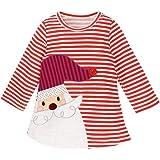 Amosfun Navidad bebé Vestido de una Pieza Manga Larga Navidad Infantil Trajes Traje de Navidad para bebé niño niña