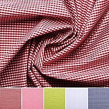 Vichy-cuadros - Algodón - Por metro - 5 colores (rojo)