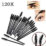 JZK 120 Applicatore mascara monouso scovolino pennello pieghevole spazzolino per occhi e ciglia e sopracciglia