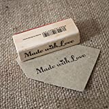 Made with love in legno timbri in gomma–Craft/scrapbooking/Handmade tag