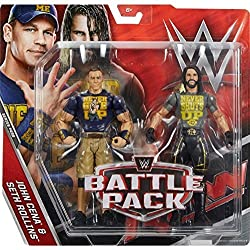 WWE Battle Pack Serie 43.5 Action Figure - Seth Rollins 'Never Spegne Up' Camicia & John Cena 'Never Dà Up' maglietta