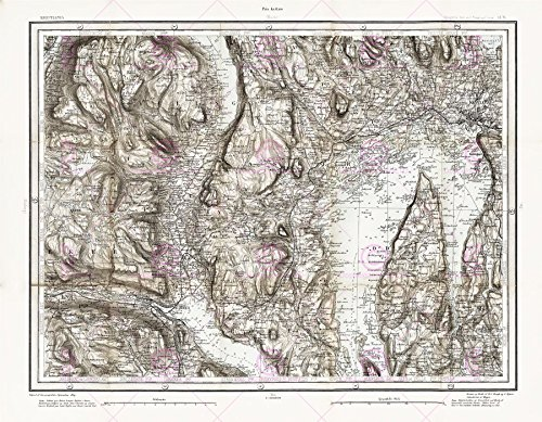 Doppelganger33 LTD Map Antique 1869 Anon Christiania Drammen Norway Replica Canvas Art Print