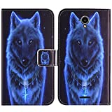 TienJueShi Wolf Book-Style Flip Leather Protector Case Silicone Cover Skin Etui Wallet For Medion Life E5504 MD 99732 5.5 inch