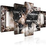 murando - Bilder 225x112 cm - Vlies Leinwandbild - 5 Teilig - Kunstdruck - modern - Wandbilder XXL - Wanddekoration - Design - Wand Bild - Abstrakt Weltkarte 020101-249