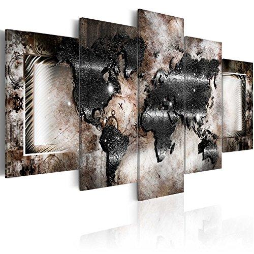 murando - Acrylglasbild Weltkarte 200x100 cm - 5 Teilig - Glasbilder - Wandbilder XXL - Wandbild - Bilder k-C-0012-k-p