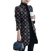 Onsoyours Cappotto di Lana Donna Elegante Manica Lunga Sottile Caldo Cappotto Giacca Tinta Unita Casual Cardigan Outwear…
