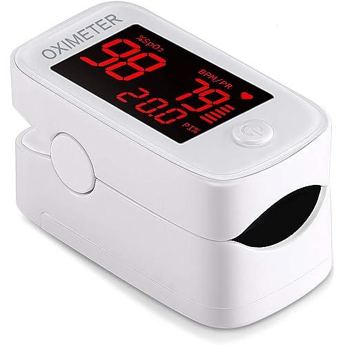 Asoway Saturimetro Da Dito con Display a LED, Letture Immediate Utilizzato per Frequenza Del Polso(PR) e La Saturazione di Ossigeno(SpO2), Pulsossimetro da Dito per Adulti e Bambini